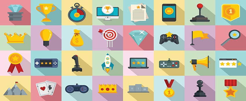 Distance Learning Tools and Icons