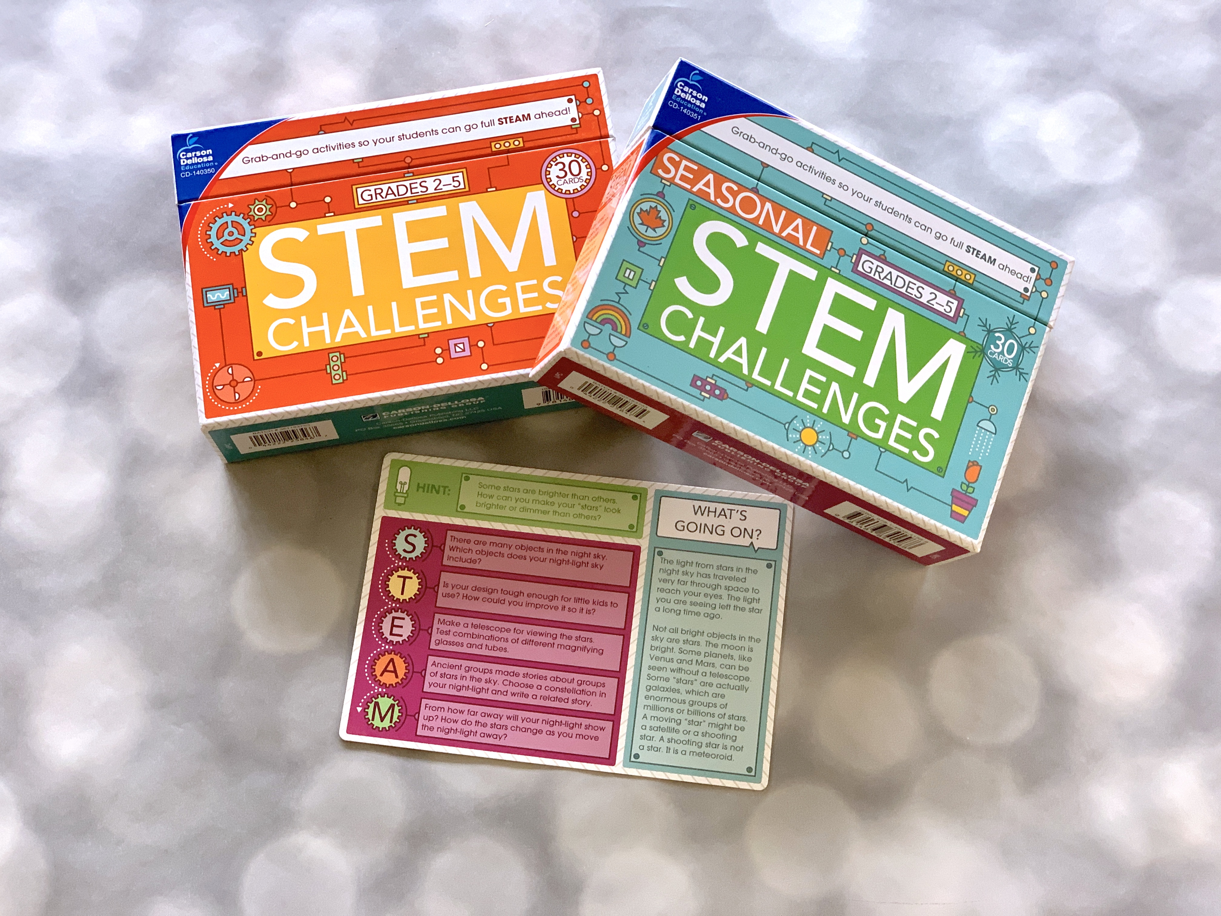 Grab and Go STEM Challenges are great for summer