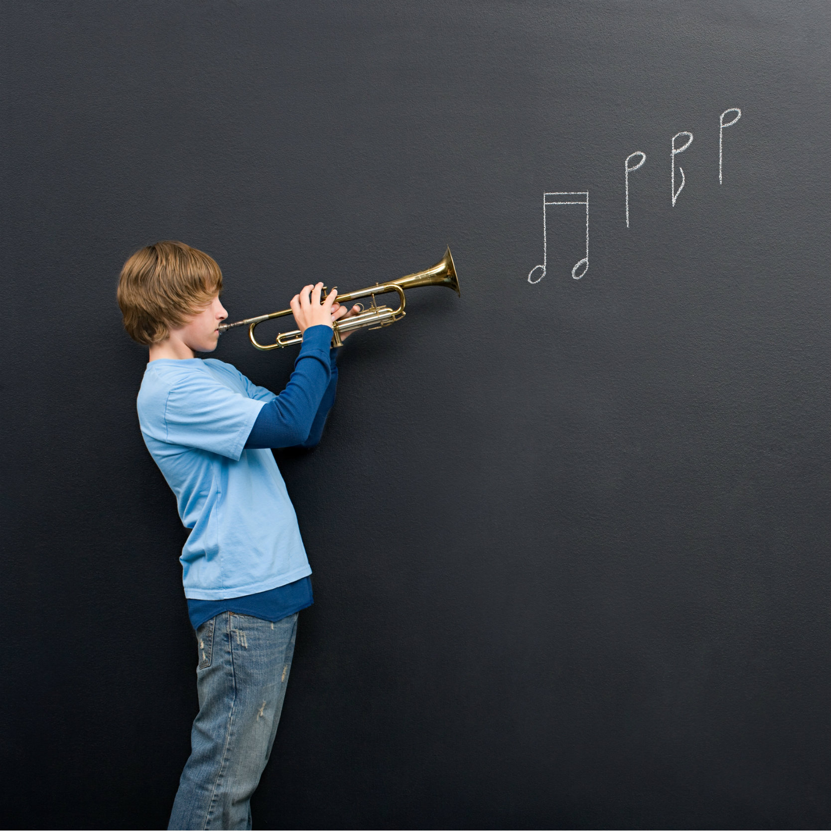 Teaching children how to play instrument
